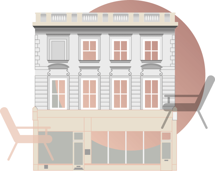 Kensington Counselling Rooms - a drawing of the building