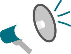 A megaphone as we provide support in marketing at our therapy rooms to rent